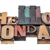 Hello Monday typography abstract
