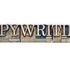 copywriting word in metal type