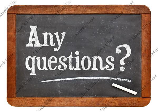 Any questions on blackboard