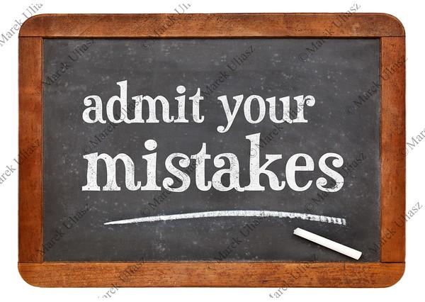 Admit your mistakes - blackboard