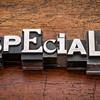 specials word in metal type