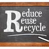 Reduce, reuse, recycle blackboard sign