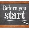 Before your start blackboard sign
