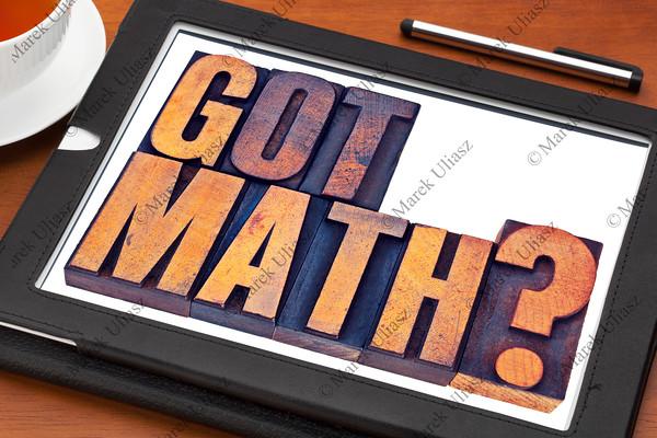 Got math question on tablet