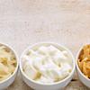 sauerkraut, kimchi and yogurt