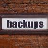 backups - file cabinet label