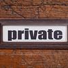 private - file cabinet label