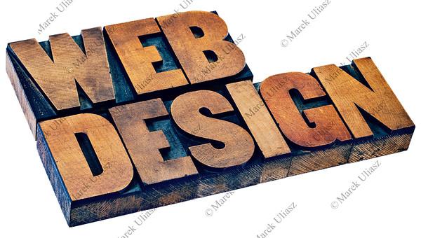 web design in letterpress wood type