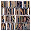 alphabet iand punctuation in wood type
