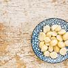 macadamia nuts on ceramic bowl