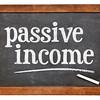 pasive income blackboard  sign