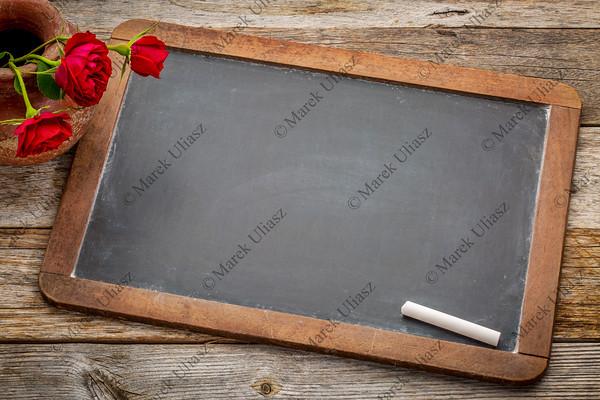blank vintage slate  blackboard