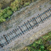railroad tracks aerial view