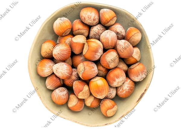 bowl of hazelnuts