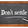 Do not settle on blackboard