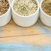 hemp seeds, hearts and protein powder