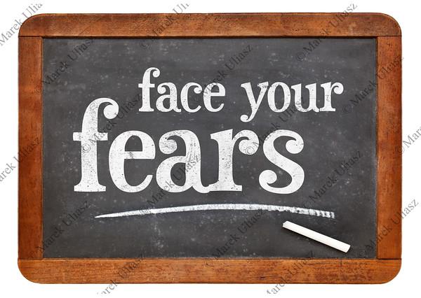 Face your fears advice on blackboard