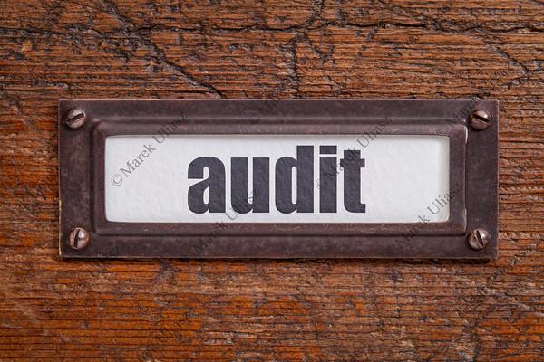 audit file cabinet  label