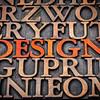 design concept in wood type