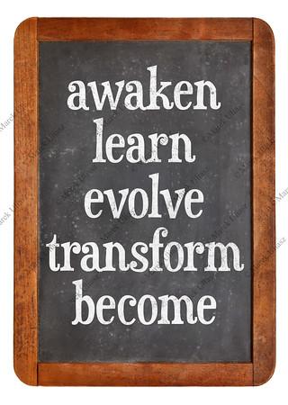 awaken, learn, evolve on blackboard