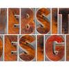 website design in wood type