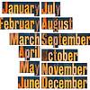 months in letterpress wood type