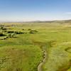 aerial view of foothills prairie in Colorado
