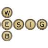 web design in typewriter keys