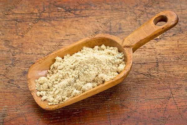 scoop of rice bran