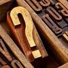 question mark in letterpress  wood type