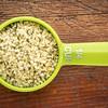 measuring scoop of hemp seed