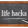 life hacks on balckboard