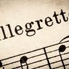 allegretto  - fast music tempo