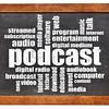 podcast word cloud on blackboard