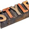 style in vintage wood type