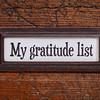 My gratitude list - file cabinet label