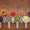 measuring scoop set of superfoods