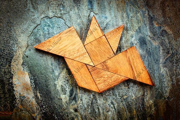 tangram bat - Halloween concept