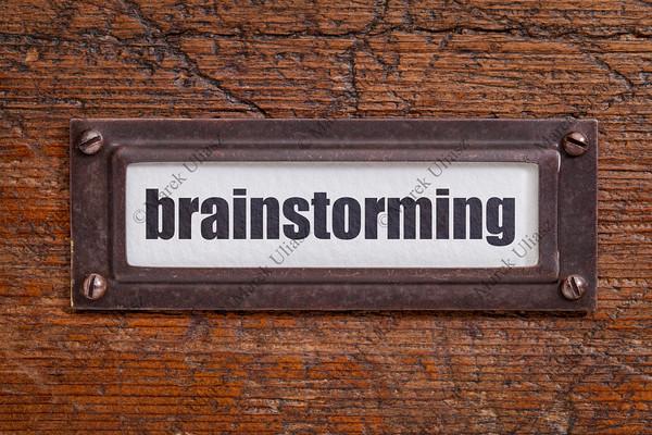 brainstorming file cabinet  label