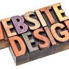 website design in letterpress wood type