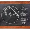 Law of sines on blackboard