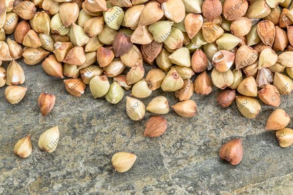 buckwheat grain background