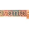 advantage word typography