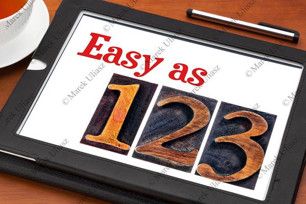 easy as 1, 2, 3 concept