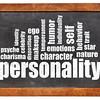 personality word cloud on blackboard