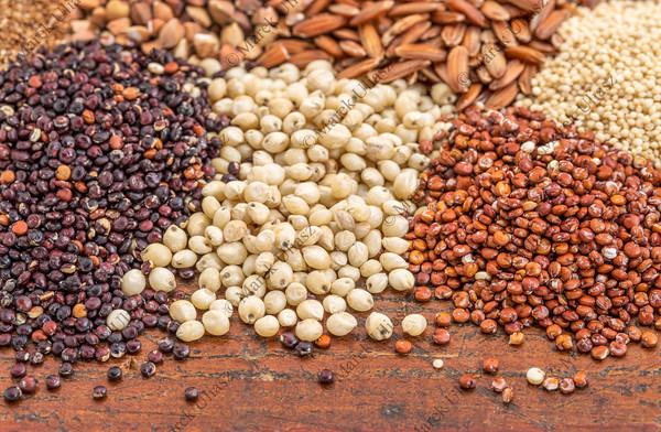 sorghum and quinoa grains