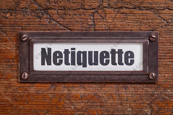 netiqutte (internet etiquette)  label
