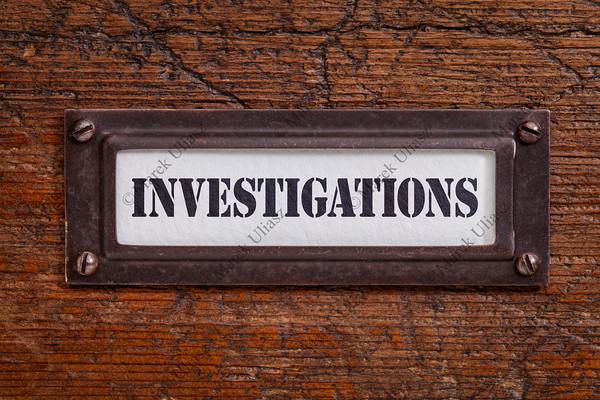 investigations -  file cabinet label