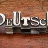 Deutsch word in metal type