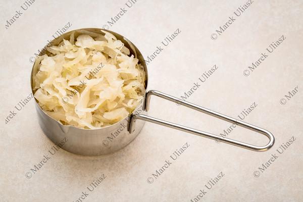 scoop of sauerkraut